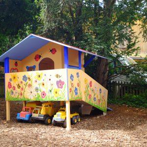 Das Spielhaus an seinem Endgültigen Platz